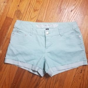 Express rolled cuff jean shorts